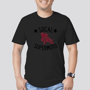 Socal Supermoto Logo Men's Fitted T-Shirt (dark)